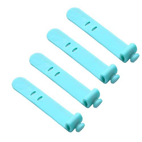 Organizador del cable del auricular del cable de la devanadera de silicona verde Auricular Cable de equipaje abrigo del cable del encargado del Administrador de Lazos de correas 4PCS de almacenamiento
