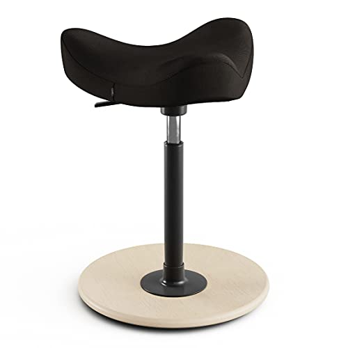 Varier Move Stuhl, Holz/Natur lackiert/Metall/Stoff, schwarz