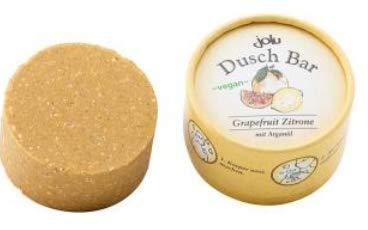 JOLU Duschseife Bio ohne Palmöl vegan | Duschgel fest Duft Grapefruit Zitrone Damen Männer | Naturseife Bio Dusch Seifenstück Naturkosmetik | Seife Natur Körperseife zum Duschen