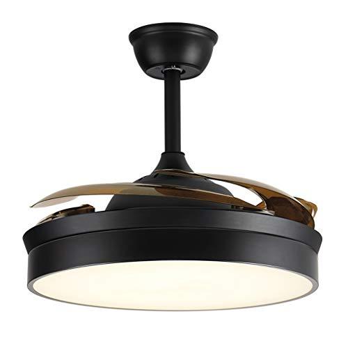 Luz de ventilador de techo retro Ventilador de techo LED lámpara de luz automático de plegado del ventilador Palas del Silencio reversible, for el dormitorio de estar Oficina de habitaciones, 36 '/ 42