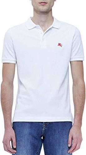 BURBERRY Brit Poloshirt, Weiß Gr. L, weiß
