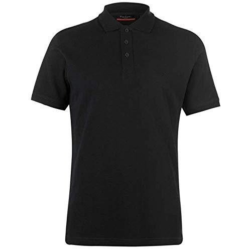 Pierre Cardin Mens Neue Saison Klassische Passform Premium Polo T-Shirt aus Baumwolle (Mittel, Schwarz)