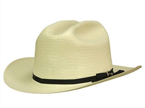 Stetson Western Open Road 6X Cattleman Cowboyhut aus 100% Naturstroh - Offwhite (7) - 55 cm