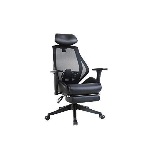 Chaise De Bureau Chaise Pivotante PU, Ergonomie Chaise De Bureau D'Ordinateur Domestique Peut S'Allonger Pause Déjeuner Chaise Esports