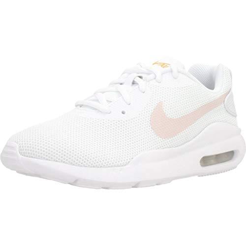 Nike Air MAX Oketo, Running Shoe Womens, Blanco/Polen Libre/Rosado Ligero