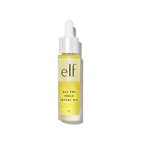 Elf All The Feels Face Oil 1.01 Fl. Oz! Infused With Hemp-Derived Cannabis Sativa Seed Oil! Lightweight and Non-Greasy Face Oil For Dry Skin! Paraben Free, Cruelty Free and Vegan Skincare!