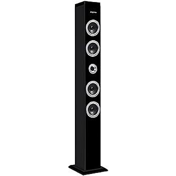 10W, Bluetooth, Radio FM, Lector de Tarjetas SPC Breeze Tower Torre de Sonido Negra