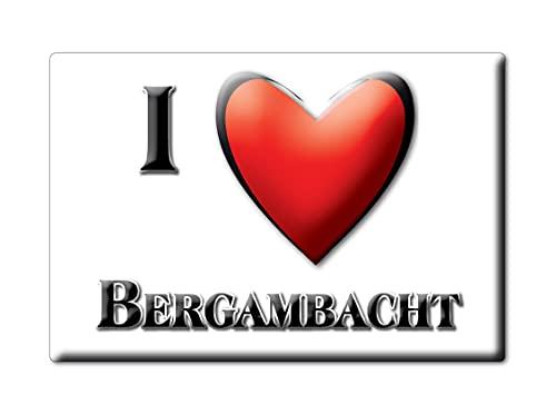 BERGAMBACHT (H) FRIDGE MAGNET NETHERLANDS ZUID HOLLAND SOUVENIR I LOVE GIFT PRESENT