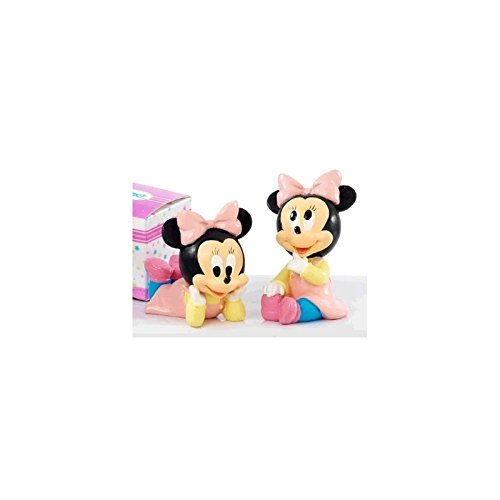 Assortiment de 2 figurines Minnie baptême 7,5 cm