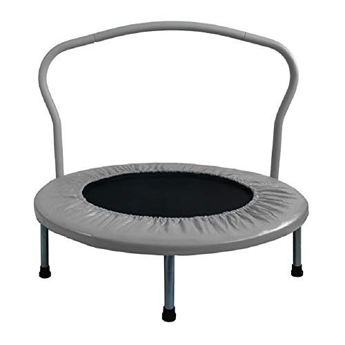 LGPNB 36 inch children trampoline Foldable with Handle, for Home indoor small child baby Kids, Rebounder Jumper, Load bearing: 80kg, Applicable people: 3-10 years old-grey