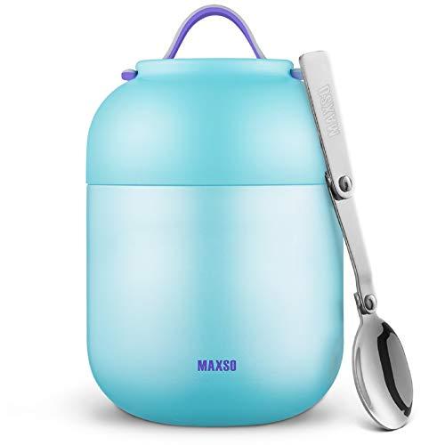 Termo Para Comida 700ml Botella Aislada de Acero Inoxidable Aislada para Alimentos, Beber y sopa de los niños y las comidas de adultos ( Azul)