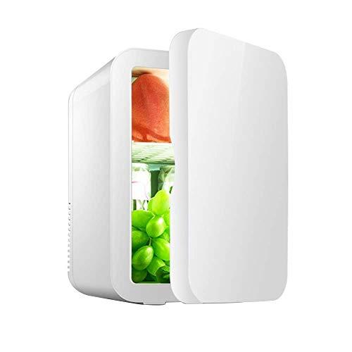 CNDY Mini-Kühlschrank Tragbare Hautpflege Kühlschrank, Heizung und Kühlung Kompakte Kühlschränke Ultra-leise 8L Kapazität für Selbstfahrer, Angeln usw. Pulver/Grau/Weiß (Farbe: Weiß)