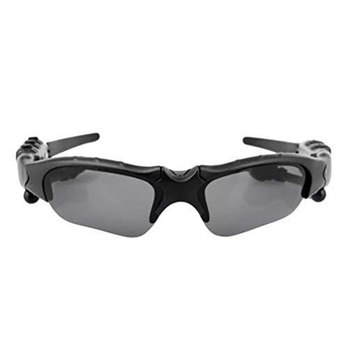 Tragbare Sonnenbrille drahtlose Bluetooth-Kopfhörer, Creamon tragbare Sonnenbrille drahtlose Bluetooth-Kopfhörer Outdoor-Sportbrille Headset mit Mikrofon dunkelgrau