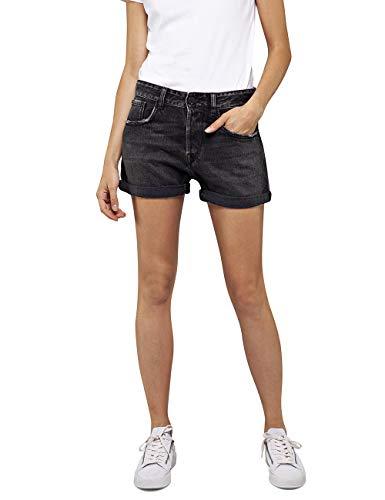 Replay Damen WA611 .000.142655B Shorts, Schwarz (Black 097), 36 (Herstellergröße: 28)