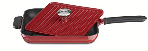 KitchenAid KCI10GPER Cast Iron Grill and Panini Press Cookware - Empire Red