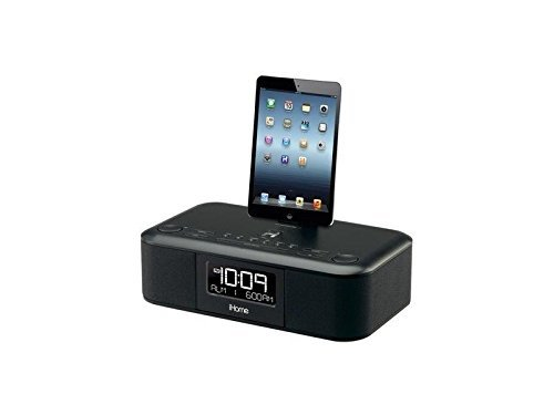 iHome iDL95 Dual Charging Stereo FM Clock Radio with Lightning Dock and USB Charge   Play for iPad, iPhone, iPod OPEN BOX