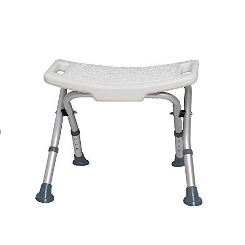 Antislip douchestoel |Opvouwbare douchestoel|Oudere badstoel |met onzichtbare leuning | Zeer verstelbaar|Multifunctionele badstoel |Zwangere vrouw, gehandicapte persoon, gewonde persoon (wit)