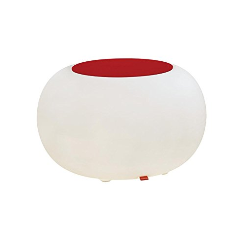Moree Bubble Indoor LED Table Lumineuse avec Feutre Coussin Rouge