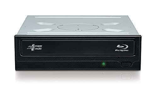 Hitachi-LG BH16NS40 Interner Blu-Ray-Disc-Brenner mit 16-facher Brenngeschwindigkeit und umfassender Formatunterstützung (BD-R BD-RE BDXL DVD-RW CD-RW), Silent Play, Windows 10 kompatibel, ohne Softwa