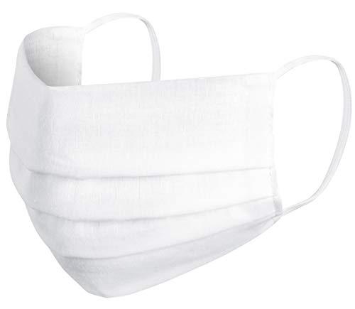5 x Mundmasken Gesichtsmaske Fashion Maske Sportmaske Face Masks wiederverwendbar waschbar Weiss