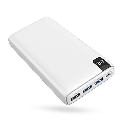 A ADDTOP Batería Externa 26800mAh, Power Bank USB C con PD 18W Cargador Portátil Carga Rápida con Pantalla LCD y 4 Outputs para Smartphones, Tablets y más