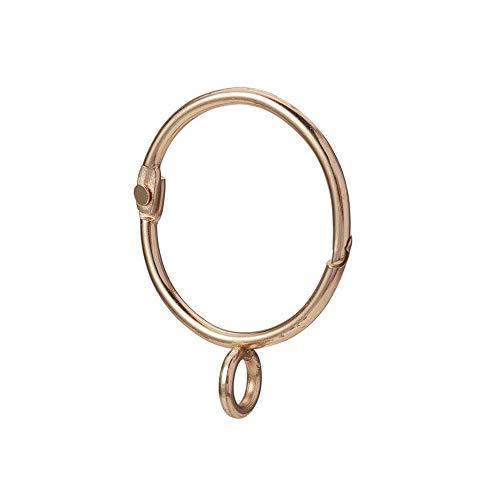 INCREWAY 16 Stücke Ringe Vorhang Clips, 38mm Gold Eisen Gardinenringe Leicht zu öffnen und Schließen