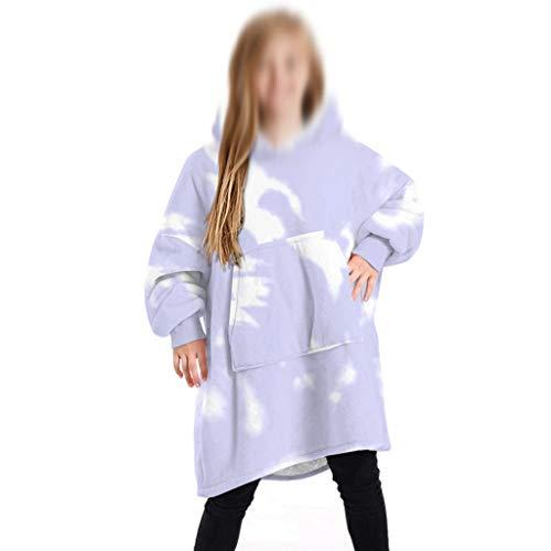 WWWEE Sudadera con Capucha Sudadera for niños Sudadera con Capucha de Gran tamaño Manta Abrigos Comfy Pullover Navidad Cálido Homewear