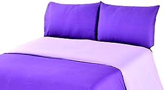 Tache Home Fashion DC32PC-PPC 2-3 Piece Reversible Duvet Cover Set, California King, Purple