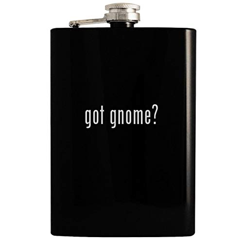 got gnome? - Black 8oz Hip Drinking Alcohol Flask