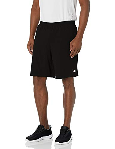 Champion Men's Jersey Short With Pockets, Black, Medium