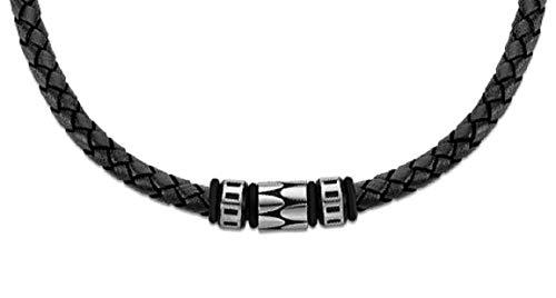 Lotus Style Collar LS2068/1/2 de Piel Negro, Trenzado