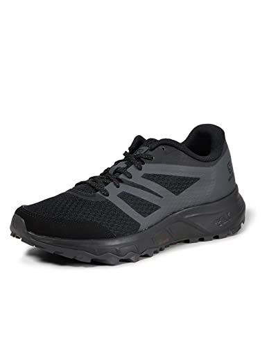 Salomon Trailster 2 Hombre Zapatos de trail running, Negro (Black/Black/Magnet), 43 1/3 EU