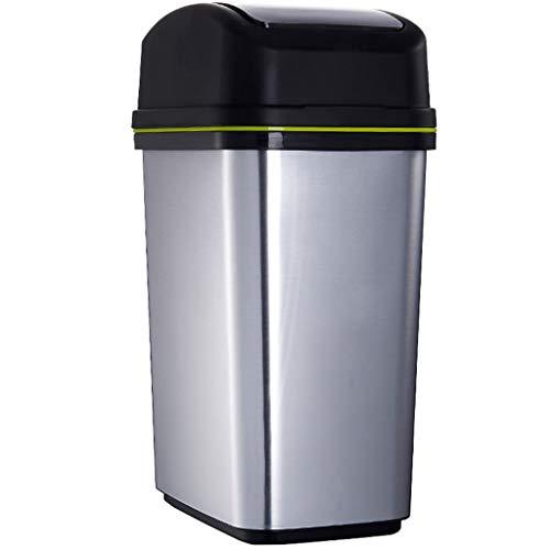 TOUCH TOP BIN/stofzuiger/vuilnisemmer/keuken/huis/kunststof-10 l zilver