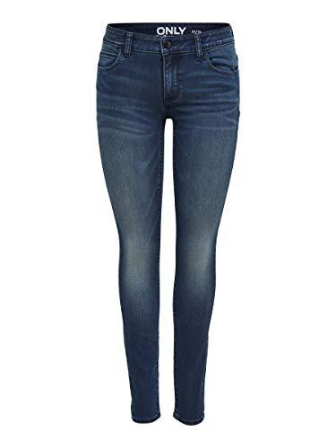 Only onlCARMEN REG SK DNM Jeans CRY1602 Noos Vaqueros Skinny, Azul (Dark Blue Denim), W28/L32 para Mujer