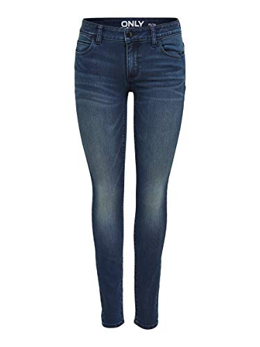 ONLY Damen Skinny Fit Jeans ONLCarmen Reg 2930Dark Blue Denim