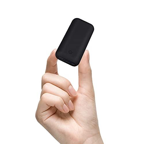 Hegenus Powerbank 10000mAh, Mini Kompakte Externer Akku, Kleine und Leichter Power Bank mit Micro+USB C, Handy Ladegerät Leicht Compact Externer Batterie