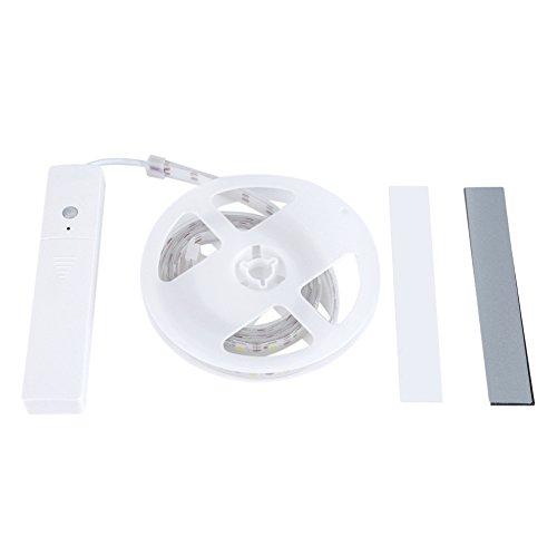 La luz de tira, 60pcs 5V LED luces de tira, pega las luces de la noche del armario de la seguridad del sensor de movimiento, para la decoración casera del sitio de la cama de la cocina(Blanco cálido)