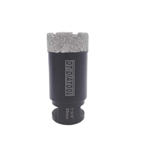 DT-DIATOOL 1-3/8 Inch Diamond Drill Bits for Tile Granite Marble Stone Brick Diameter 35mm