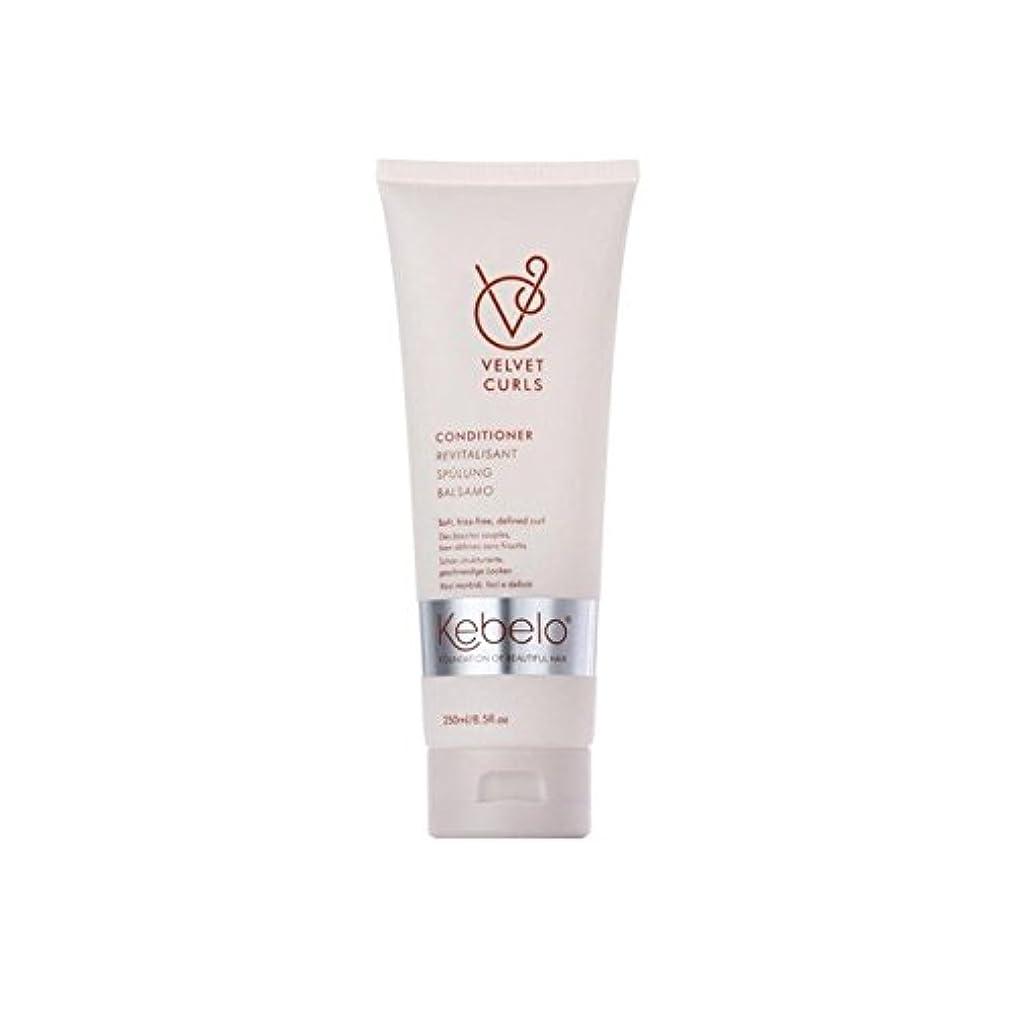 書き込み期限切れモンクKebelo Velvet Curls Conditioner (250ml) (Pack of 6) - ベルベットのカールコンディショナー(250ミリリットル) x6 [並行輸入品]