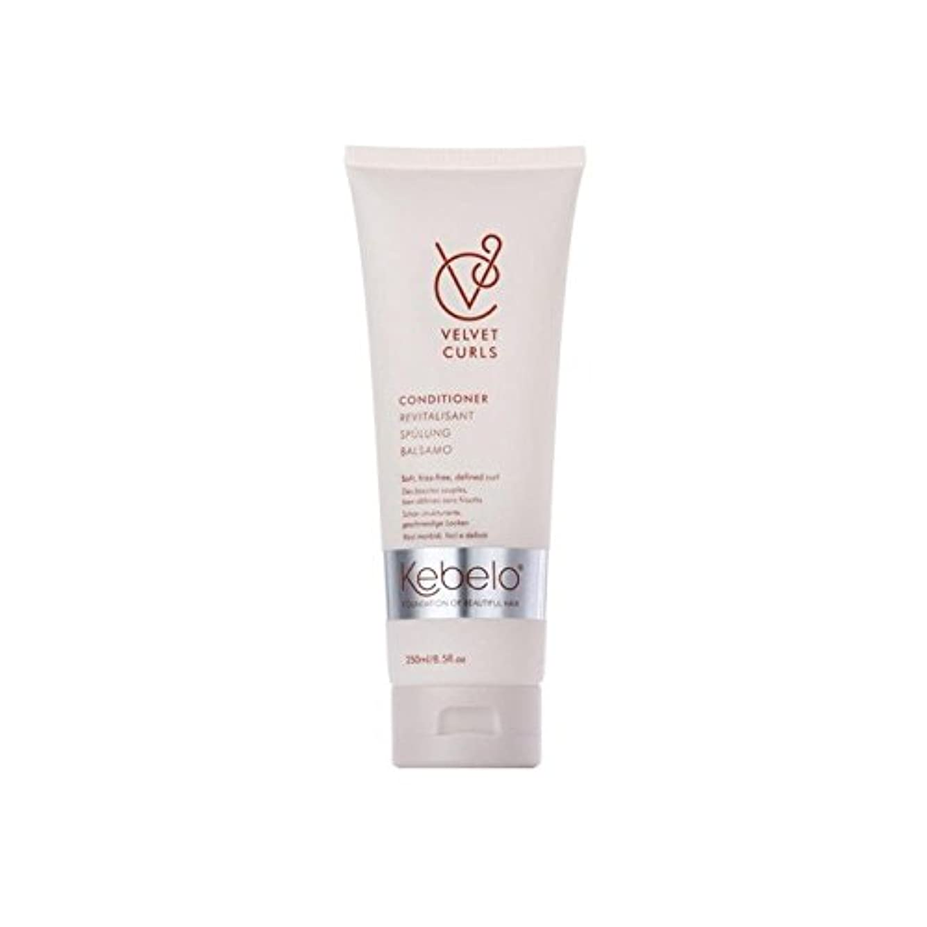 現代のママ答えKebelo Velvet Curls Conditioner (250ml) (Pack of 6) - ベルベットのカールコンディショナー(250ミリリットル) x6 [並行輸入品]