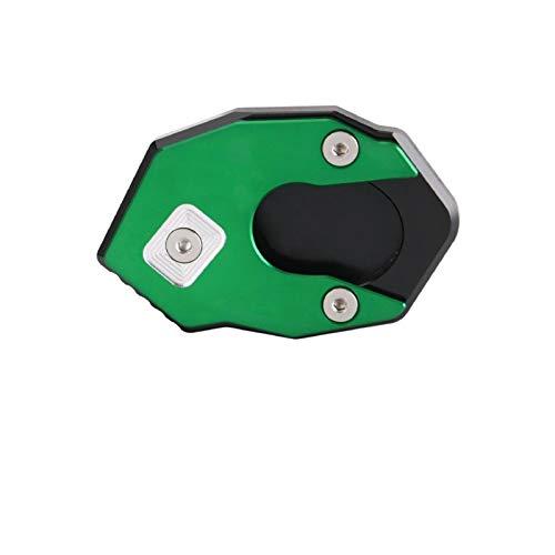 Placa De Soporte De Almohadilla De Extensión De Soporte Lateral De Pie De Motocicleta para Kawasaki Z100 ER6N Soporte de pie Lateral (Color : Green)
