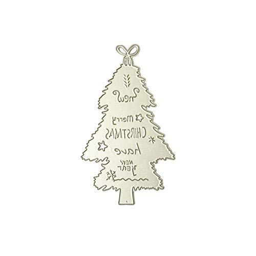 Eliky stempel, scrapbooking, kerstboom, metaal, sjabloon, sjabloon, scrapbooking, knutselen, album, postzegels