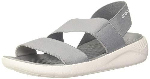 Crocs Damen Literide Stretch Women Sandalen, Grau (Light Grey/White 00j), 39/40 EU