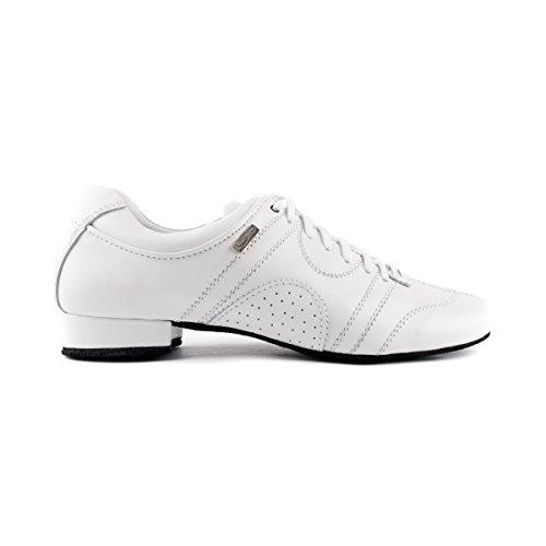 PortDance Herren Tanzschuhe/Dance Sneakers PD Casual - Leder Weiß - Rauledersohle [EUR 44]