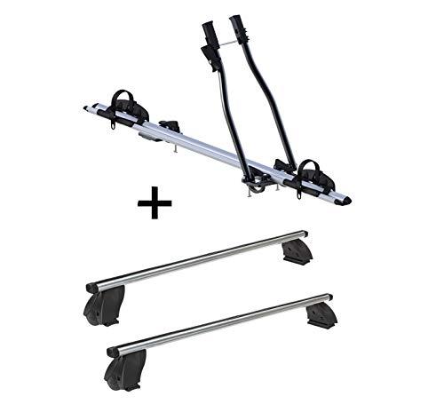 VDP Fahrradträger SAGITTAR + Dachträger K1 PRO Aluminium kompatibel mit Opel Astra (H) Station Wagon (5Türer) 08-16