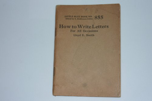 How to write letters for all occasions (Little blue book)