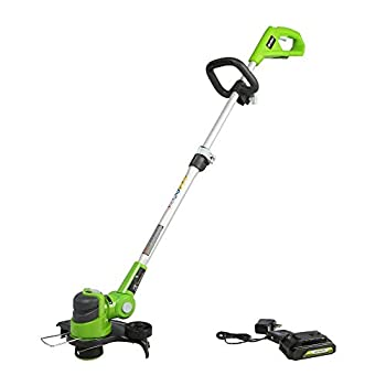 Greenworks 24V 12 inch String Trimmer 2Ah USB Battery and Charger Included ST24B215
