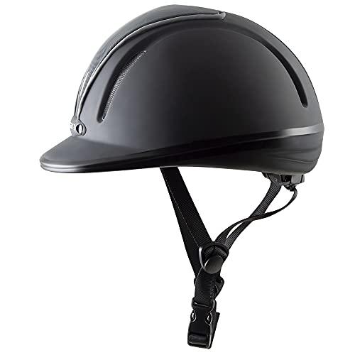 PFIFF 744797 Casque d'équitation Femme, Noir/Gris, 48-53 cm