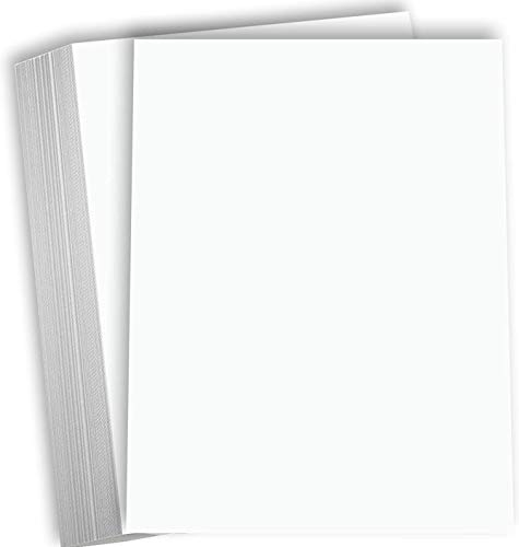Hamilco White Cardstock Thick Paper – 8 1/2 x 11' Blank Heavy Weight 80 lb Cover Card Stock - for Brochure Award and Stationery Printing - 50 Pack