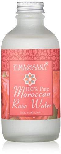 Elma and Sana 100% Pure Moroccan Rose Water, 4 Ounce by Elma & Sana, LLC
